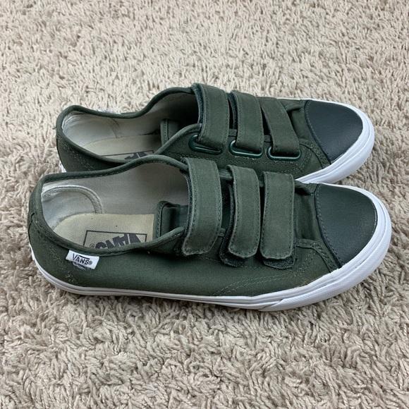 Vans Shoes | Olive Green Vans Velcro